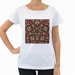 Christmas Kaleidoscope Women s Loose-Fit T-Shirt (White) Front
