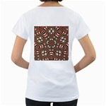 Christmas Kaleidoscope Women s Loose-Fit T-Shirt (White) Back