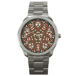 Christmas Kaleidoscope Sport Metal Watch Front