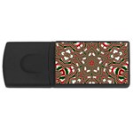 Christmas Kaleidoscope USB Flash Drive Rectangular (4 GB)  Front