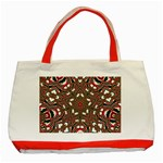 Christmas Kaleidoscope Classic Tote Bag (Red) Front