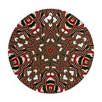 Christmas Kaleidoscope Round Ornament (Two Sides)  Front