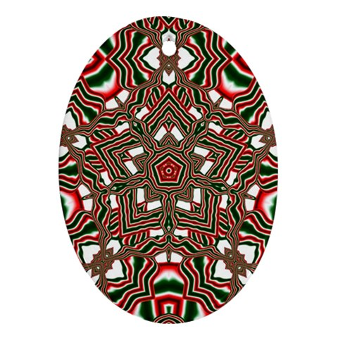Christmas Kaleidoscope Oval Ornament (Two Sides)