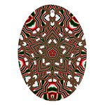Christmas Kaleidoscope Oval Ornament (Two Sides) Front