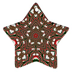 Christmas Kaleidoscope Star Ornament (Two Sides)