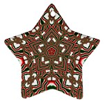 Christmas Kaleidoscope Star Ornament (Two Sides)  Back