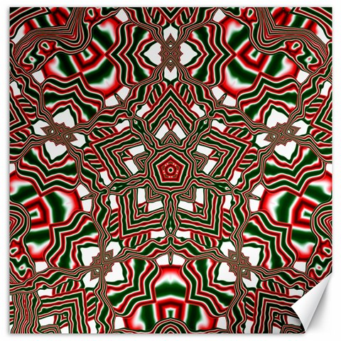 Christmas Kaleidoscope Canvas 12  x 12