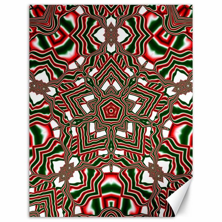 Christmas Kaleidoscope Canvas 12  x 16