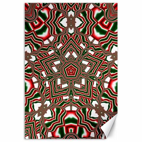 Christmas Kaleidoscope Canvas 12  x 18