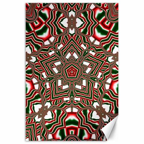Christmas Kaleidoscope Canvas 24  x 36