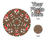 Christmas Kaleidoscope Playing Cards 54 (Round)  Front - Heart2