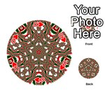 Christmas Kaleidoscope Playing Cards 54 (Round)  Front - HeartQ