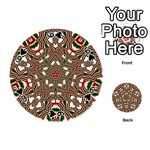 Christmas Kaleidoscope Playing Cards 54 (Round)  Front - Spade6