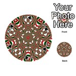 Christmas Kaleidoscope Playing Cards 54 (Round)  Front - Spade7