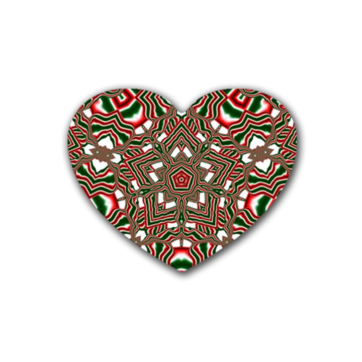 Christmas Kaleidoscope Heart Coaster (4 pack)