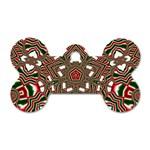 Christmas Kaleidoscope Dog Tag Bone (One Side) Front