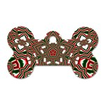 Christmas Kaleidoscope Dog Tag Bone (Two Sides) Front