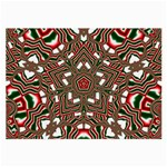 Christmas Kaleidoscope Large Glasses Cloth Front