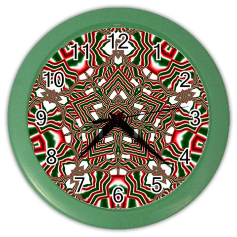 Christmas Kaleidoscope Color Wall Clocks