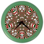 Christmas Kaleidoscope Color Wall Clocks Front