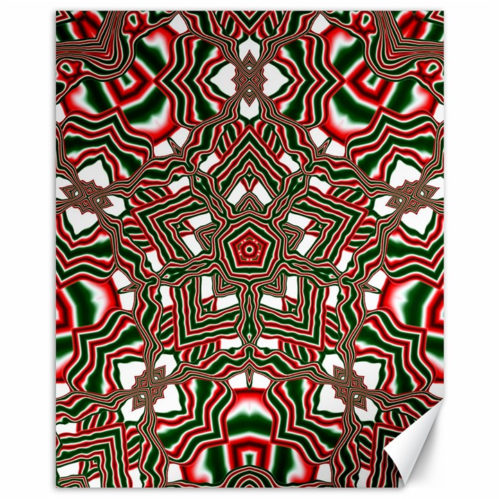 Christmas Kaleidoscope Canvas 11  x 14