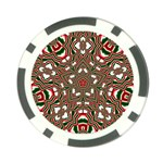 Christmas Kaleidoscope Poker Chip Card Guards Front