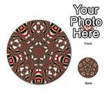 Christmas Kaleidoscope Multi-purpose Cards (Round)  Back 1