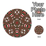 Christmas Kaleidoscope Multi-purpose Cards (Round)  Back 39