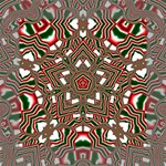 Christmas Kaleidoscope Mini Canvas 6  x 6  6  x 6  x 0.875  Stretched Canvas