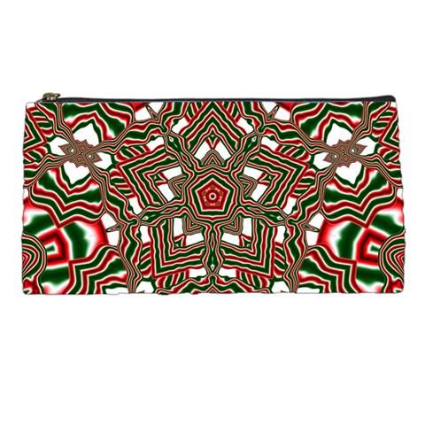 Christmas Kaleidoscope Pencil Cases