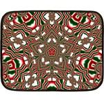 Christmas Kaleidoscope Double Sided Fleece Blanket (Mini)  35 x27 Blanket Front