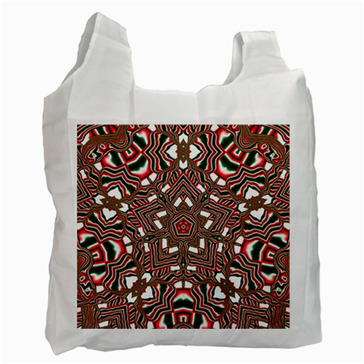 Christmas Kaleidoscope Recycle Bag (Two Side)