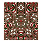 Christmas Kaleidoscope Shower Curtain 66  x 72  (Large)  58.75 x64.8 Curtain