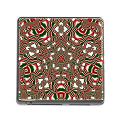 Christmas Kaleidoscope Memory Card Reader (Square)