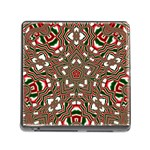 Christmas Kaleidoscope Memory Card Reader (Square) Front