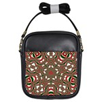 Christmas Kaleidoscope Girls Sling Bags Front