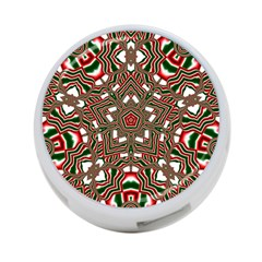 Christmas Kaleidoscope 4-Port USB Hub (Two Sides)