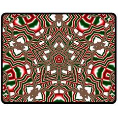 Christmas Kaleidoscope Fleece Blanket (Medium)