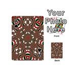 Christmas Kaleidoscope Playing Cards 54 (Mini)  Front - SpadeA