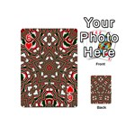 Christmas Kaleidoscope Playing Cards 54 (Mini)  Front - Heart6