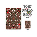 Christmas Kaleidoscope Playing Cards 54 (Mini)  Front - HeartJ