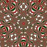 Christmas Kaleidoscope Storage Stool 12   Top