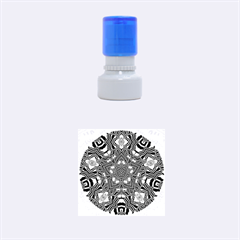 Christmas Kaleidoscope Rubber Round Stamps (Small)