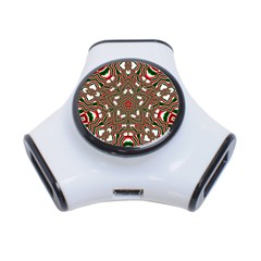 Christmas Kaleidoscope 3-Port USB Hub