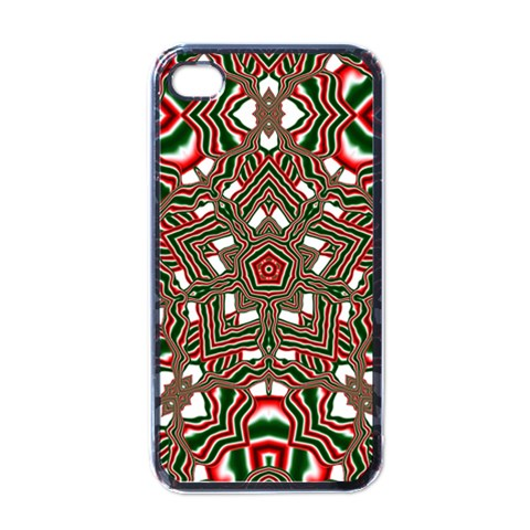 Christmas Kaleidoscope Apple iPhone 4 Case (Black)
