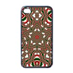 Christmas Kaleidoscope Apple iPhone 4 Case (Black) Front