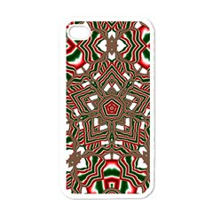 Christmas Kaleidoscope Apple iPhone 4 Case (White)