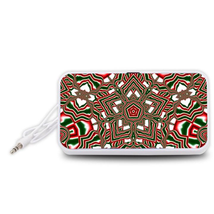 Christmas Kaleidoscope Portable Speaker (White)