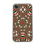 Christmas Kaleidoscope Apple iPhone 4 Case (Clear) Front
