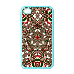 Christmas Kaleidoscope Apple iPhone 4 Case (Color)